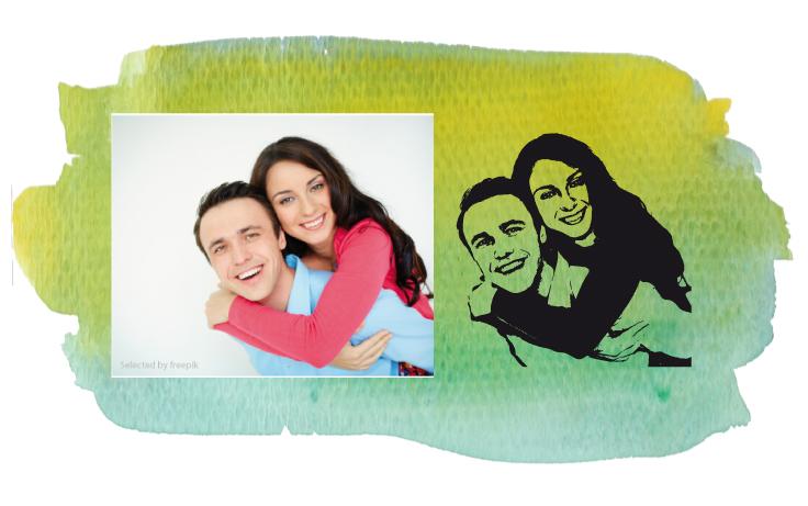 WandTattoo Ihr persönliches Foto Figure Porträt Portrait Photo Geschenkidee WF01