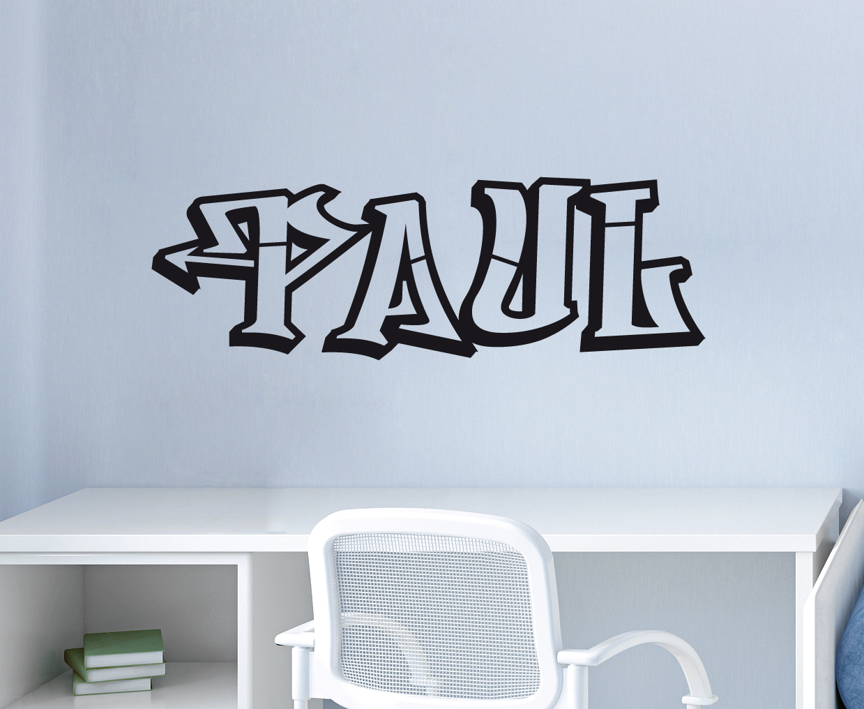 Home Decor Graffiti Name Hiphop Schrift Modern Aufkleber Rap Style Wandaufkleber Wandtattoo Home Garden Mbln Org