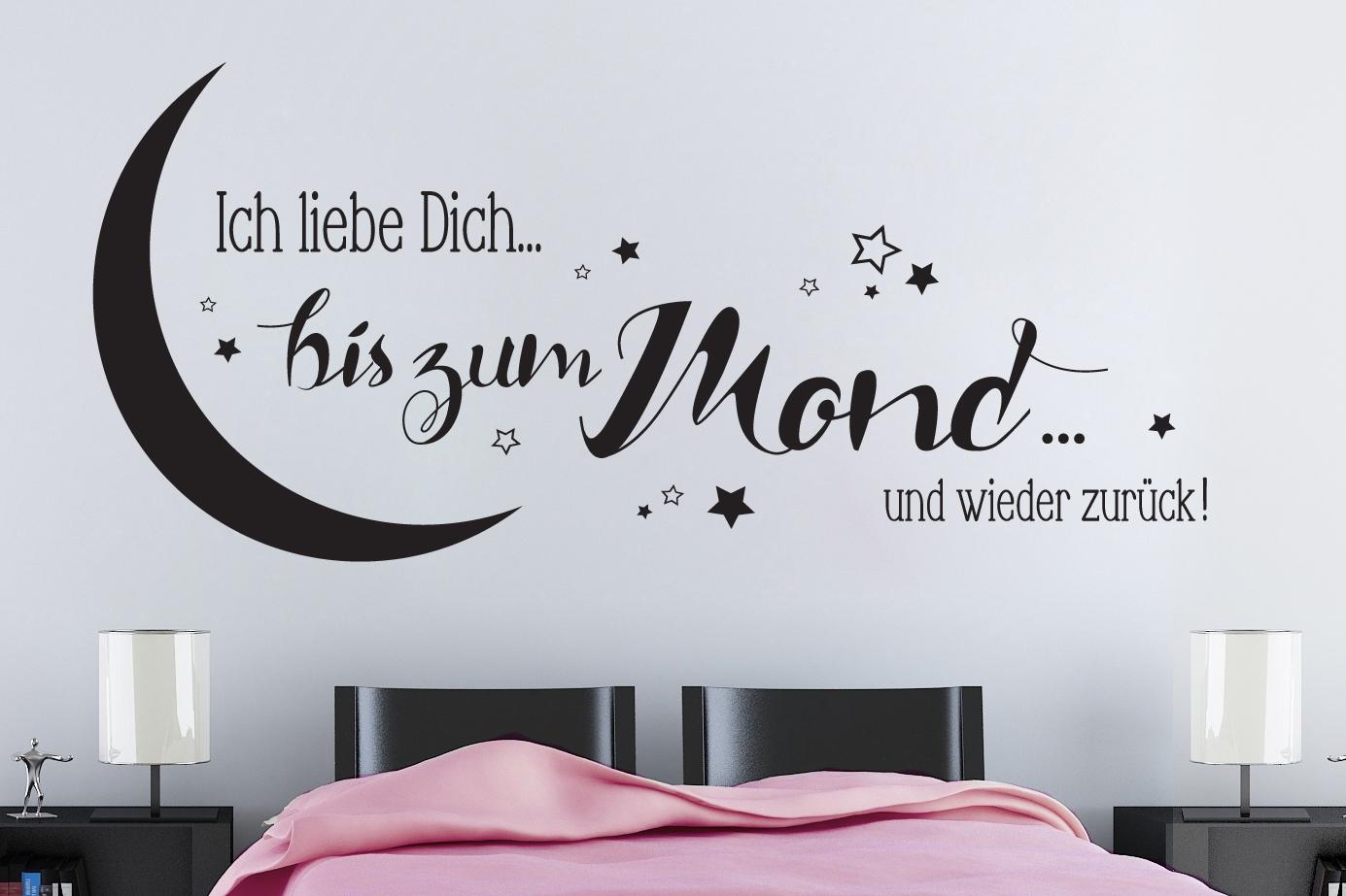 """Erstaunlich Ich Liebe Dich Bis Zum Mond Dekoration Von Wandaufkleber """"ich Und Wieder Zurück!"""" (672)"""