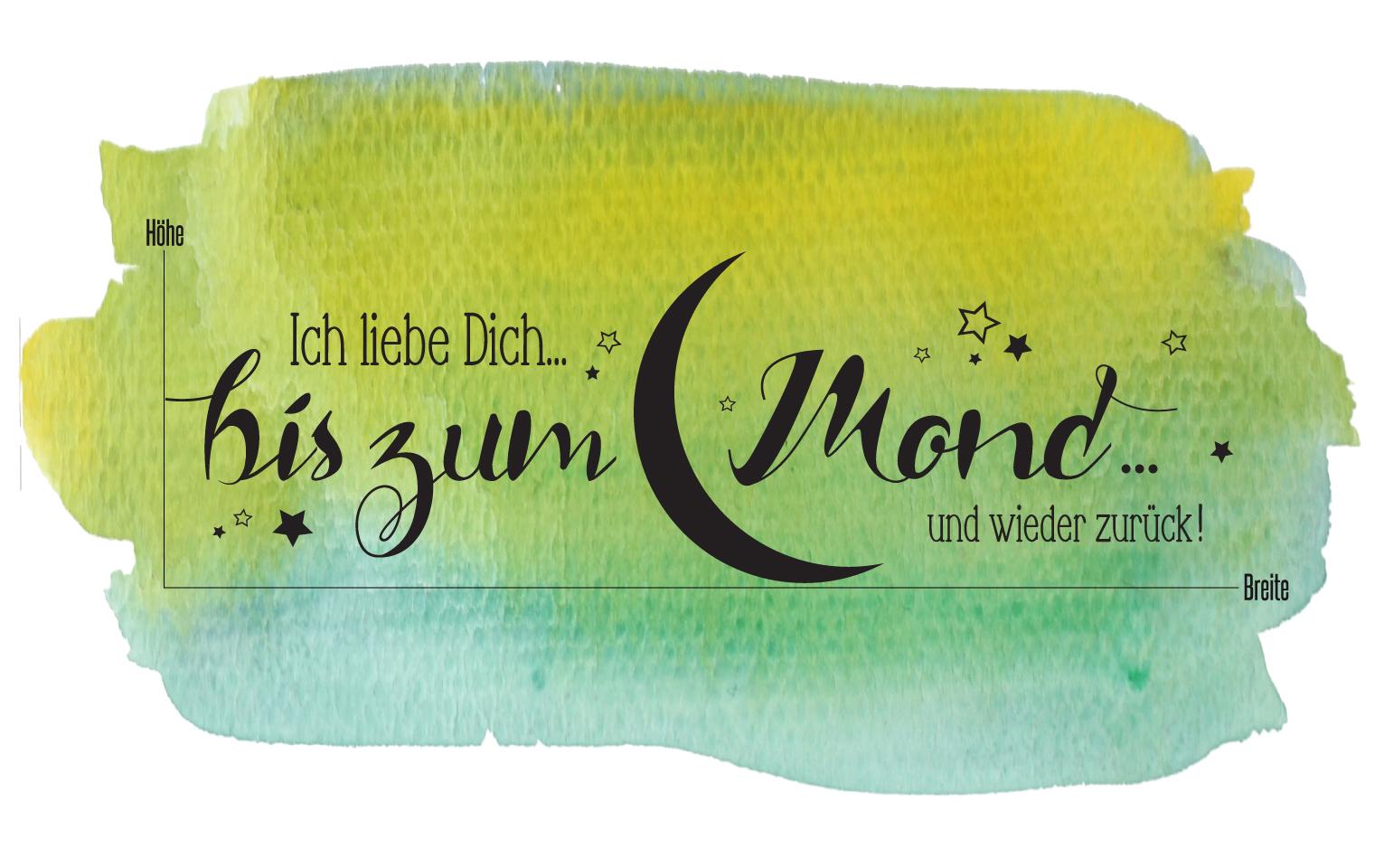 """Faszinierend Ich Liebe Dich Bis Zum Mond Referenz Von Beschreibung. Wandaufkleber: """"ich"""